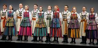 Trupe nacional da dança de Poland - Mazowsze Foto de Stock