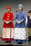 Trupe nacional da dança de Poland - Mazowsze Fotos de Stock Royalty Free