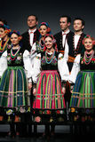 Trupe nacional da dança de Poland - Mazowsze imagem de stock royalty free