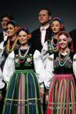 Trupe nacional da dança de Poland - Mazowsze Imagens de Stock Royalty Free