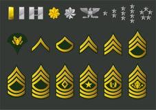 Truppa arruolata dell'esercito americano illustrazione vettoriale