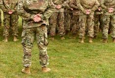 Truppe degli Stati Uniti Soldati degli Stati Uniti Esercito americano immagini stock