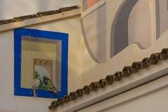 Truque de pintura em uma parede fotografia de stock royalty free