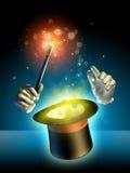 Truque do mágico Imagens de Stock