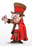 Truque do mágico Fotografia de Stock Royalty Free