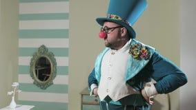 Truque do truque das mostras do ilusionista com balão 4k filme