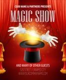 Truque mágico, desempenho, circo, conceito da mostra Fotografia de Stock