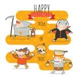 Truque ou deleite de Halloween Imagens de Stock Royalty Free