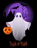 Truque ou tratamento Ghost ilustração do vetor