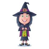 Truque ou Treater da bruxa da menina Imagens de Stock Royalty Free