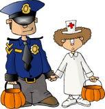 Truque ou treaters de Halloween Imagem de Stock