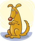 Truques do cão: carrinho ilustração royalty free