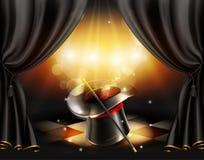 Truques mágicos, fundo Imagens de Stock Royalty Free