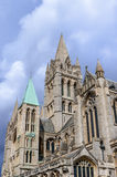 Truro Cathedral South Elevation. View looking upwards to the south elevation and tower of Truro Cathedra Stock Photography