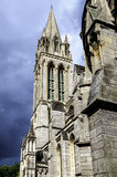 Truro Cathedral Tower. View upwards to Truro Cathedral Tower Royalty Free Stock Photo