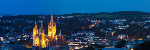 Truro at night Royalty Free Stock Photo