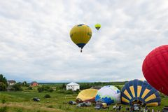 TRUSKAVETS, UKARINE - 16 JUIN 2018 : Festival des ballons à air i Images libres de droits
