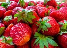 truskawka Świeże organicznie jagody w pudełku owocowy tło pokrojone ananas w pół zdjęcie royalty free