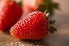 Truskawka, świeża truskawka, dojrzała truskawka, zdrowy strawberr Obraz Royalty Free