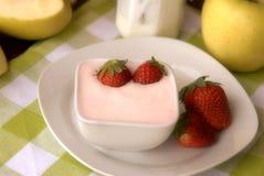 truskawka jogurt Obraz Stock
