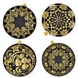 Truskawka ornamenty na Bożenarodzeniowych piłkach Zdjęcia Royalty Free