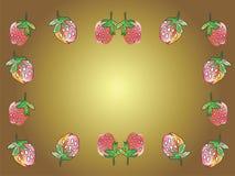 truskawka ramowe ilustracja wektor