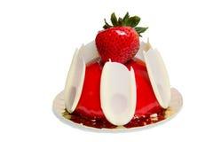 Truskawka tort w glazerunku Zdjęcie Royalty Free