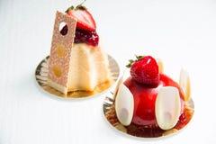 Truskawka tort w glazerunku Fotografia Stock