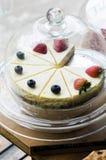 Truskawki i czarnej jagody cheesecake Obraz Stock