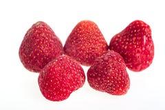 Truskawki, marznąć Makro-, marznąć organicznie truskawki, handfu Zdjęcie Stock