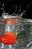 truskawki mokre Obrazy Royalty Free