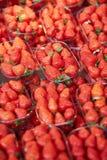 Truskawki na rolniku wprowadzać na rynek w Paryż, Francja zdjęcie royalty free