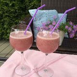 Truskawki smoothie fotografia stock
