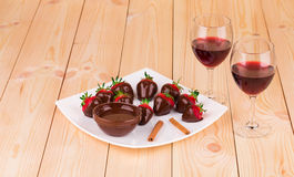 Truskawki w czekoladzie Obraz Stock