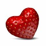 Truskawki w formie serca Obraz Stock