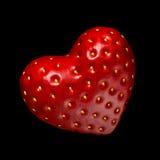 Truskawki w formie serca Fotografia Stock