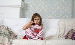 Truskawkowa dziewczyna Zdjęcia Stock