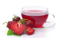 Truskawkowa herbata Zdjęcia Royalty Free