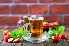 Truskawkowa herbata Obrazy Royalty Free