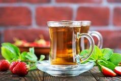 Truskawkowa herbata Fotografia Stock