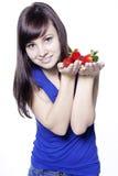 truskawkowa kobieta Obrazy Royalty Free