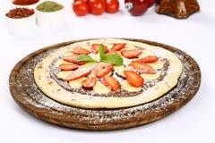 Truskawkowa pizza zdjęcia stock