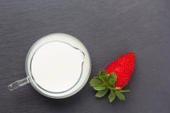 truskawkowe mleko Zdjęcie Royalty Free
