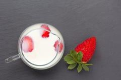 truskawkowe mleko Obrazy Stock