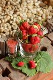 Truskawkowe owocowe jagody Zdjęcia Royalty Free