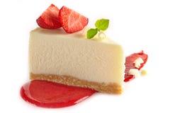 Truskawkowy cheesecake Zdjęcie Royalty Free