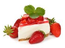 Truskawkowy cheesecake Fotografia Royalty Free
