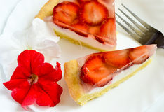 Truskawkowy Cheesecake Zdjęcia Stock