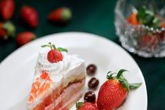 Truskawkowy ciasto Fotografia Stock