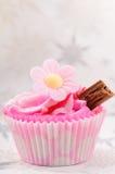Truskawkowy filiżanka tort Obraz Royalty Free